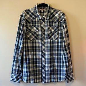 True Religion, Men's Snap Front Shirt, Plaid